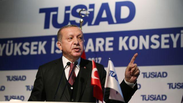 Cumhurbaşkanı Erdoğan, iş adamlarıyla bir araya geldi