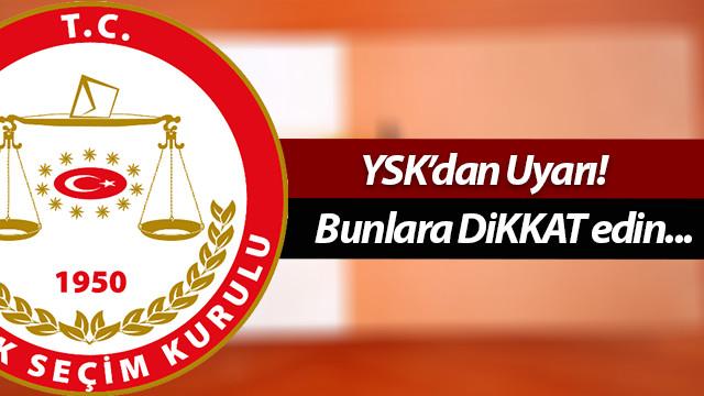 YSK'dan vatandaşlara referandum uyarısı