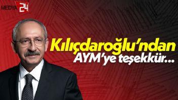 Kemal Kılıçdaroğlu'ndan AYM Başkanı'na teşekkür