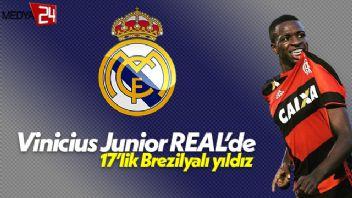 17'lik genç yıldız Vinicius Junior Real Madrid'de