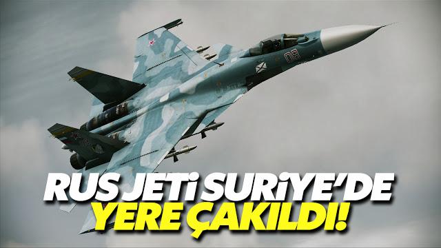 Rus askeri jeti Suriye'de düştü