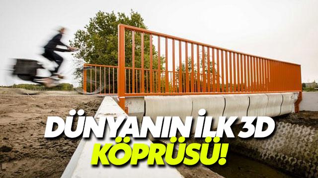 Hollanda'da 3D yazıcıyla yapılan ilk köprü