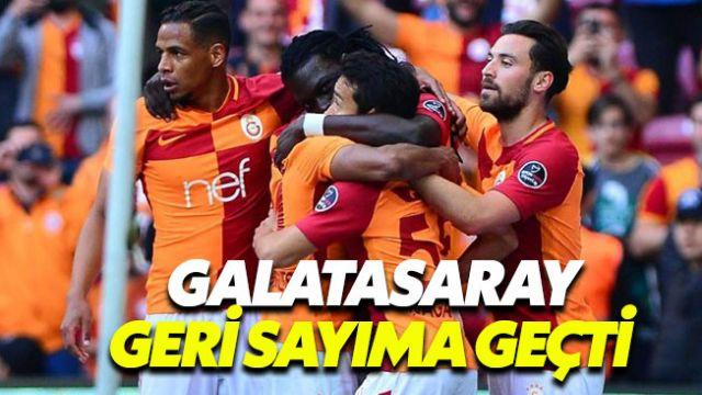 Galatasaray şampiyonluk kupasının bir ucundan tuttu