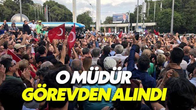İzmir Marşı'na engel olan müdür görevden alındı
