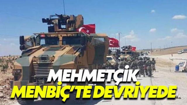TSK, Menbiç'in dış mahallelerinde devriyeye başladı