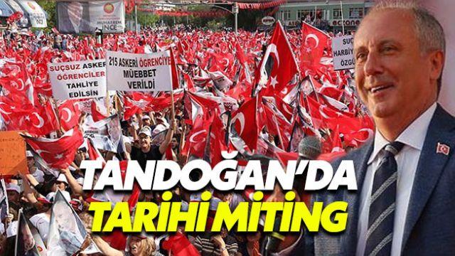 Muharrem İnce'den Ankara'da tarihi miting