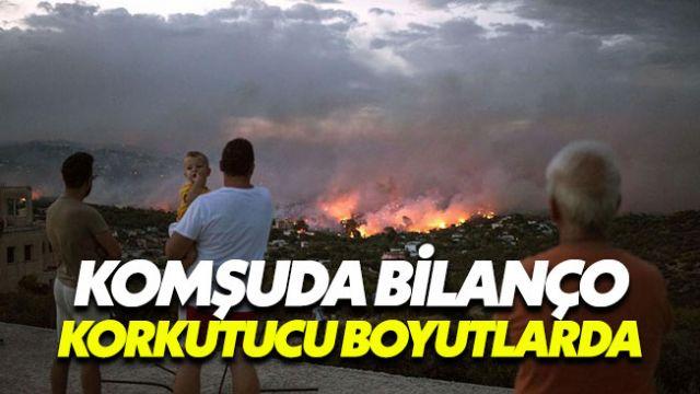 Atina'daki yangın ölü sayısı her geçen gün artıyor