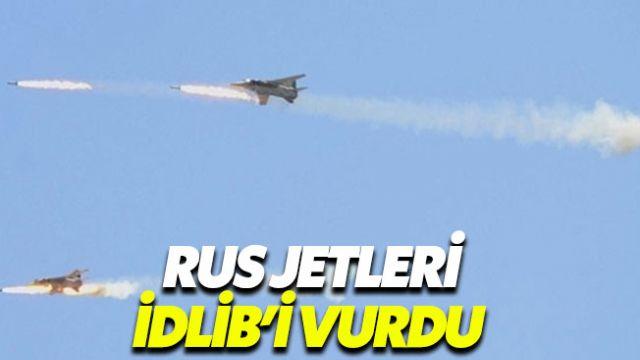 Rus jetleri Tahran görüşmesi öncesi İdlib'i vurdu