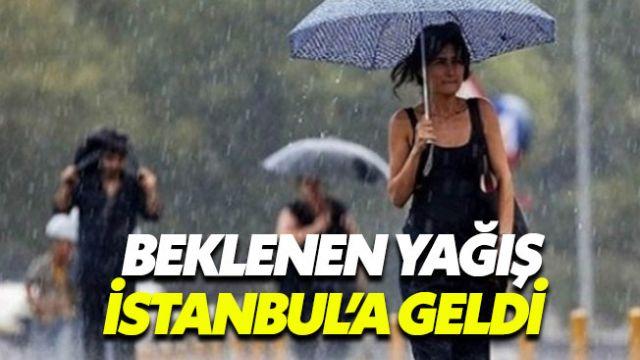İstanbul'da gök gürültülü sağanak yağış başladı