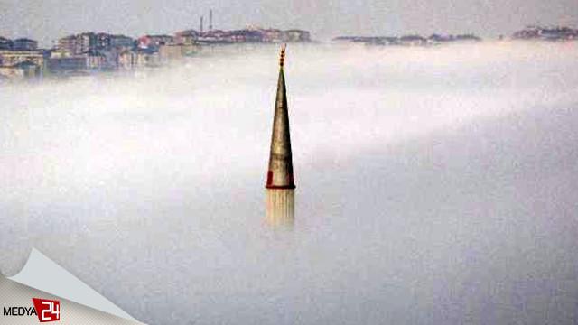 Büyükçekme'de sabah saatlerinde yoğun sis