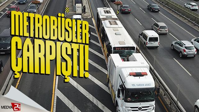 İstanbul'da Metrobüsler çarpıştı! 13 yaralı
