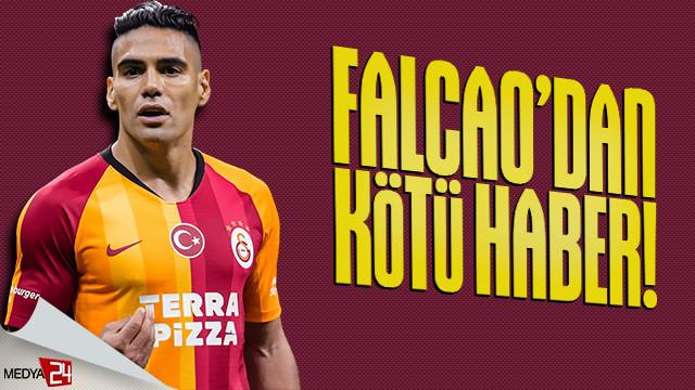 Galatasaray'da Falcao şoku! Real Madrid maçında yok