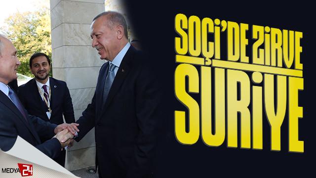 Erdoğan ile Putin görüşmesinde zirve Suriye