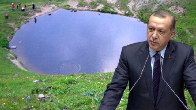 Erdoğan Dipsiz Göl hakkında sert konuştu