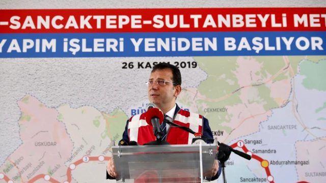 Çekmeköy–Sancaktepe–Sultanbeyli Metro Hattı'na Ekrem İmamoğlu el attı