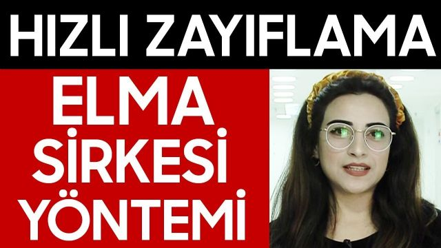 Elma Sirkesi ile Zayıflama ( Sabah ılık su ile içmeyin! ) - Diyetisyen Rabia Aslan