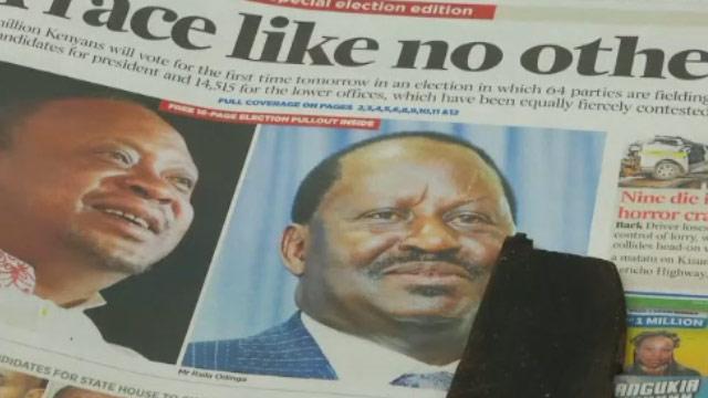 Kenya başkanını belirlemeye hazırlanıyor