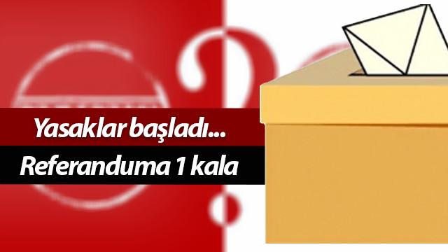 Referandum öncesinde seçim yasakları