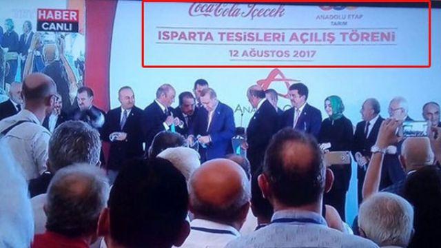 Cumhurbaşkanı Erdoğan Isparta'da Coca Cola fabrikasının açılışında