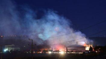 Çanakkale Açık Cezaevinde yangın paniği