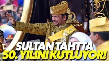 Brunei Sultanı Süleyman 50 yıllık iktidarını kutluyor