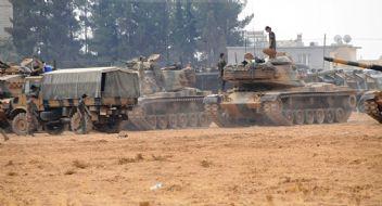 Uçaklar vurdu, Tanklar Suriye'ye geçiyor