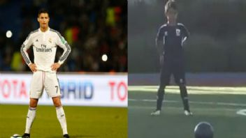 Cristiano Ronaldo'nun 6 yaşındaki oğlundan frikik golü