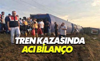 Çorlu'da meydana gelen tren kazasında acı bilanço