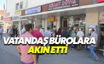 Erdoğan'ın çağrısına yanıt veren vatandaşlar döviz bürolarına akın etti