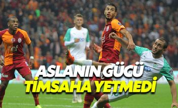 Galatasaray evinde Bursaspor'u geçemedi