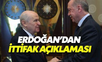 Bahçeli'ye tepki gösteren Erdoğan 'Herkes kendi yoluna' dedi