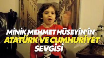 Minik Mehmet Hüseyin Özdemir'in Atatürk ve Cumhuriyet sevgisi