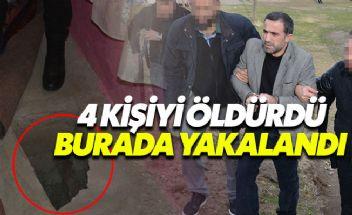 4 kişinin katili evindeki kuyuda yakalandı