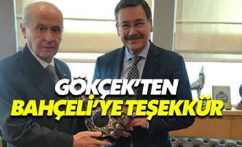 Melih Gökçek'ten Ankara'da aday göstermeyen Bahçeli'ye teşekkür
