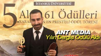 Arif Antlı'nın Dergisi 'Ant Media'ya ALTIN 61 ödülü