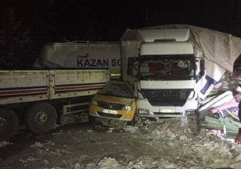 Bolu-Ankara karayolunda zincirleme kaza