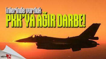 Kuzey Irak'ta terörist PKK'ya ağır darbe!
