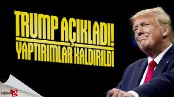 Trump: Türkiye'ye yaptırımlar kaldırıldı!