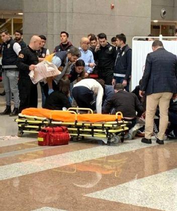 İstanbul Adalet Sarayı'nda 7. kattan atladı!