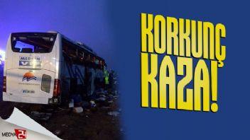 Aksaray'da yolcu otobüsü devrildi: 1 ölü 45 yaralı