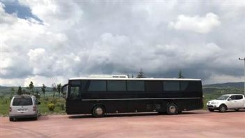Adalet yürüyüşündeki Kemal Kılıçdaroğlu'nun otobüs karavanı