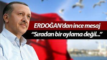 Cumhurbaşkanı Erdoğan ile eşi Üsküdar'da sandıkta